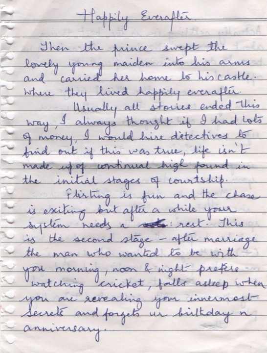Handwritten - Happily Ever After